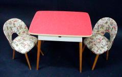 """Tisch und zwei Stühlchen """"Circusleben"""""""