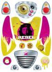 """Geschenk Set """"Rebel"""" - Aufkleber und Shirt """"Che"""""""