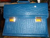 70er Jahre Leder Schultasche